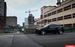 Picture jeep, drives, home, Vossen, BMW X6, black, Tuning, BMW x six, building