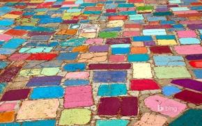 Picture road, color, CA, USA, bridge, San Diego, stones, Balboa, Art Center, Spanish village