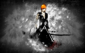 Wallpaper Ichigo, sword, bleach, bankai, ichigo