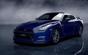 Picture gran turismo 5, blue, jdm, R35, Nissan GTR
