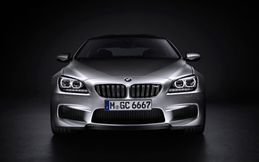Picture Auto, BMW, Machine, Logo, Grey, BMW, Silver, The hood, Lights, Room, The front