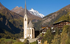 Picture Austria, Village, Alps