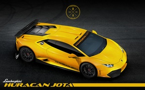 Picture Lamborghini, Car, Race, Yellow, Huracan, LP610-4, Hansen TYPE, That