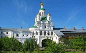 Wallpaper the city, photo, Cathedral, temple, Russia, the monastery, If the Makariev monastery