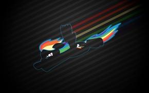 Picture flight, kindness, rainbow, silhouette, pony, My Little Pony, Rainbow Dash