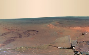 Wallpaper mountain, panorama, Mars, Opportunity, the Rover, Grilis Haven