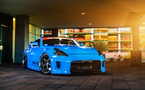 Picture car, blue, tuning, nissan 370z