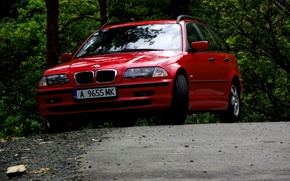 Picture BMW, sport, red, cars, 320d