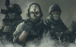Picture mask, call of duty, art, special forces, Call of Duty: Ghosts, ghosts
