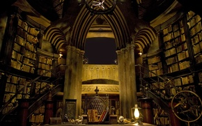 Picture hogwarts, library, castle inside