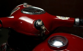 Picture red, retro, bike, jawa