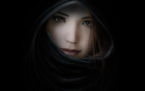 Picture eyes, girl, mystery