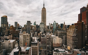 Picture skyline, New York, Empire State Building