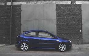 Picture machine, Ford, Focus, cars, blue