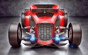 Picture Concept, Red, Hot Rod