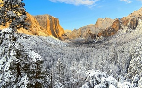 Picture winter, CA, USA, Yosemite, national Park, Yosemite National Park