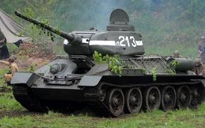 Wallpaper WWII, t-34, tank, victory