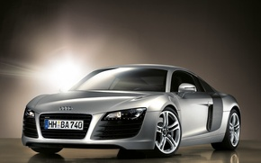 Picture light, reflection, silver, Audi R8