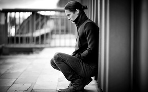 Picture look, actor, black and white, male, musician, Jared Leto, 30 Seconds to Mars, Jared Leto