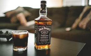 Picture jack daniels, glass, whiskey, bottle