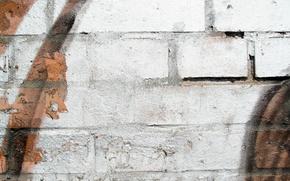 Picture Orange, wall, white, black, pattern, brick