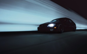 Picture black, Lexus, black, tuning, Lexus, is300, in motion