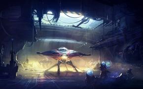 Picture fiction, robot, the suit, art, aliens