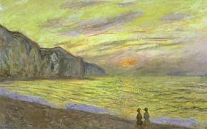 Wallpaper Claude Monet, picture, landscape, Sunset in Purvile
