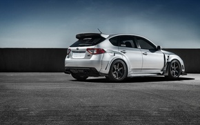 Picture Subaru, Impreza, WRX, Car, STI, Sport, Silver, Wheels, Rear