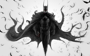 Picture The Dark Knight, Batman, fan art, DC Comics