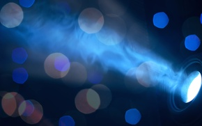 Picture light, blue, background, bokeh