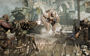 Picture weapons, monsters, Gears of War, gears of war