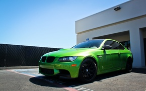 Picture green, tuning, bmw, BMW, E92