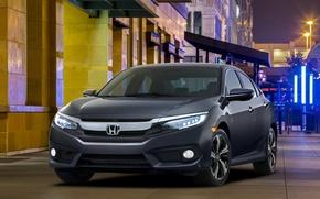Wallpaper Honda, sedan, Honda, Civic, civici, 2015