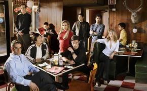 Picture Hiro Nakamura, Heroes, Claire Bennet, heroes, cafe, Hayden Panettiere