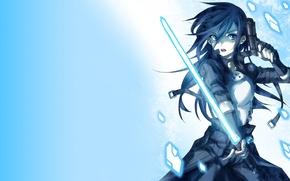 Wallpaper weapons, sword art online, background, art, lightsaber, fragments, gun