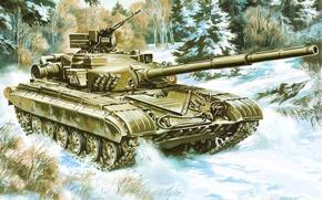 Wallpaper figure, tank, USSR, T-64B, MBT