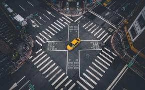 Picture machine, markup, street, crossroads, taxi, Taipei