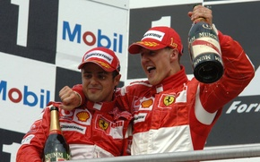 Picture race, podium, Schumacher