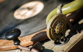 Picture macro, handle, record, gramophone