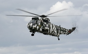 Picture the sky, helicopter, Sikorsky, transport, Arctic, Sea King, S-61, Politis camo