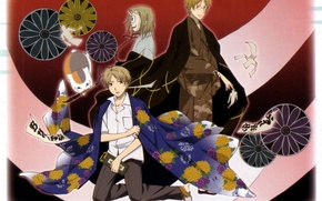 Picture cat, pattern, glasses, kimono, brush, natsume yuujinchou, the Natsume book of friendship, youkai, takashi natsume, …
