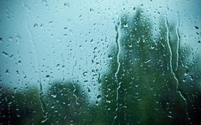 Picture glass, drops, rain
