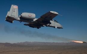 Picture fire, USA, Weapon, Arkansas, An A-10C