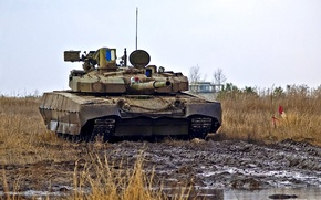 Wallpaper field, tank, Ukraine, t-84 Oplot