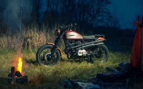 Picture nature, The evening, motorcycle, Ducati, the fire