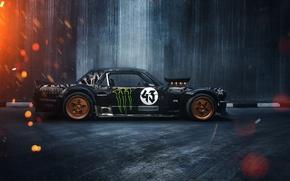 Picture Mustang, Ford, 1965, RTR, Side, Ken Block, Gymkhana, Sparks, Hoonicorn, SEVEN, 845 hp