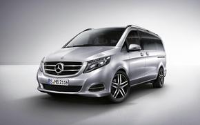 Picture Mercedes, Benz, Silver, 2014, Silver, Van, Minivan, V-Class
