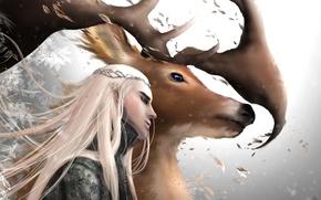 Picture deer, art, horns, male, the hobbit, neptunesteven, thranduil