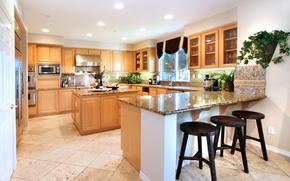 Picture light, design, furniture, kitchen, mansion, Design, Interior, Kitchen